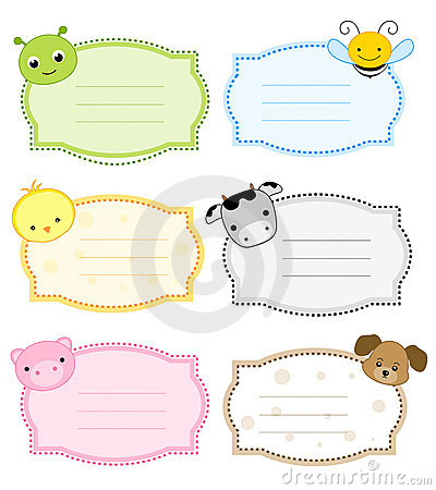 Free Animal Label / Frame Royalty Free Stock Photos - 21614938