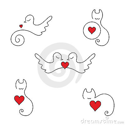 Animal love logos and elements