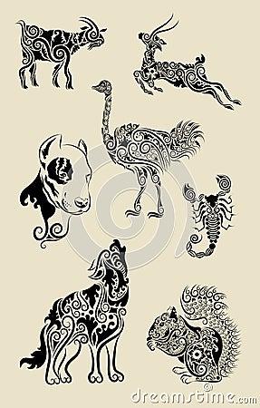 Animal ornaments set