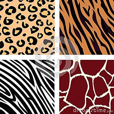 Free Animal Pattern - Tiger, Zebra, Giraffe, Leopard Royalty Free Stock Photos - 14317448