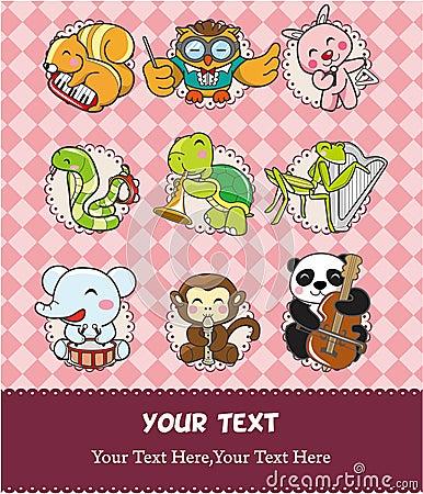 Free Animal Play Music Card Stock Image - 18651681