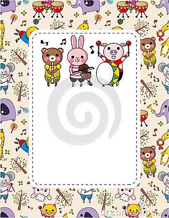 Free Animal Play Music Card Stock Image - 19000161