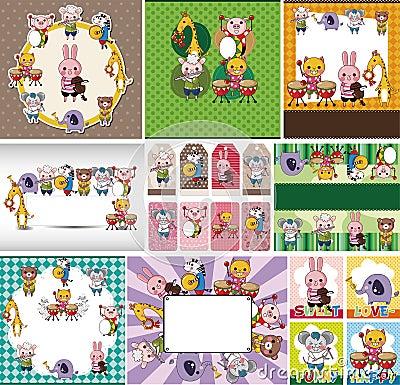 Free Animal Play Music Card Royalty Free Stock Photo - 22543655