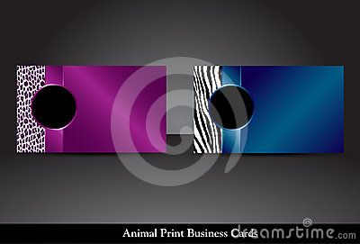 Animal Print Business Cards, Raster Version