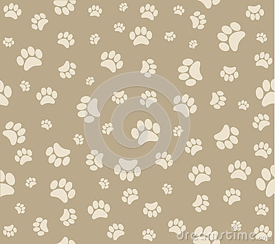 Animal s footprints background