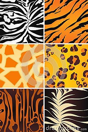 Animal seamless patterns