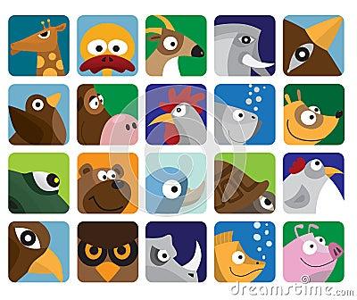 Animal set icon