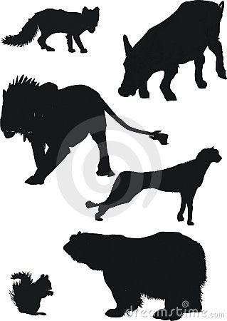 Free Animal Silhouettes Royalty Free Stock Photography - 2758927