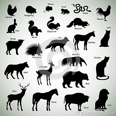 Free Animal Silhouettes Royalty Free Stock Photography - 36637167