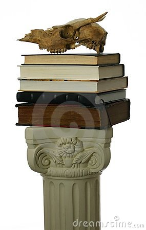 Free Animal Skull On Stack Of Books Stock Photos - 4066663
