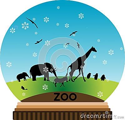 Animal snow-globe