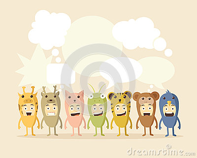 Animal and Speech Bubbles