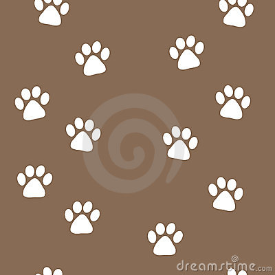 Free Animal Tracks Seamless Pattern Royalty Free Stock Photo - 3552675