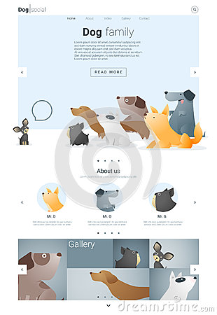 Animal Website Template Banner And Infographic With Dog 2 Stock ...