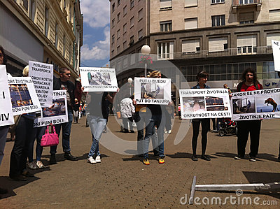 Animal welfare demonstration Editorial Photography