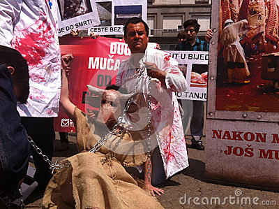 Animal welfare demonstration Editorial Photo