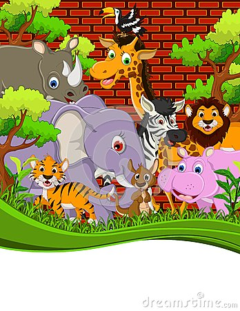 Animal wildlife cartoon