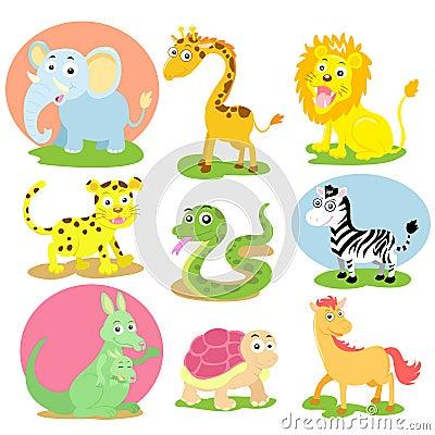 Animal wildlife set