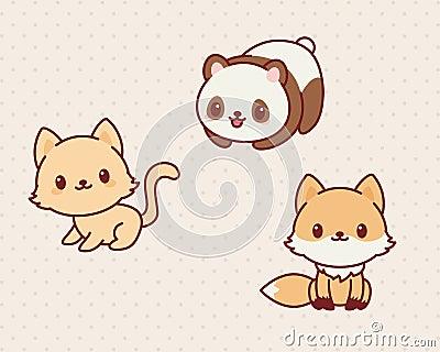 Animales De Kawaii Ilu...