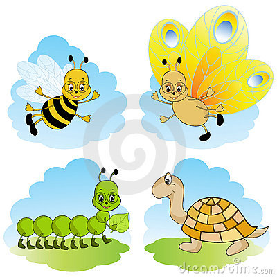 Animales de la historieta.