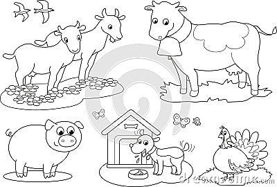 Animales del campo del colorante 2