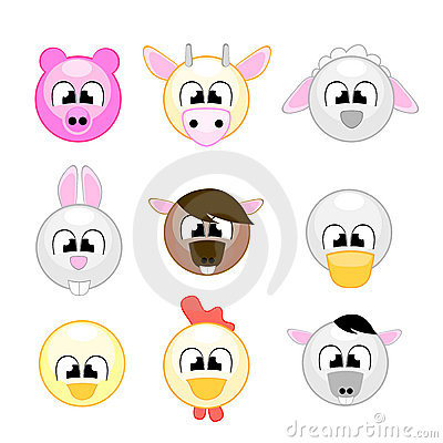 Animales del campo divertido para los cabritos