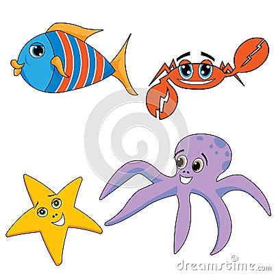 Animales del océano del mar