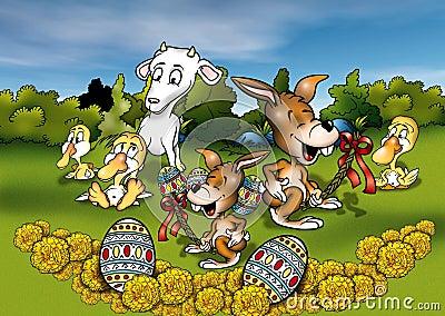 Animales y Pascua