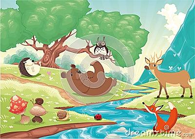 Animali nel legno