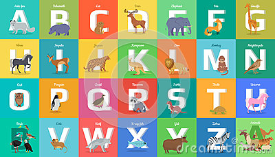 Chart Of A To Z Wild Animals Stock Vector - Image: 55756259