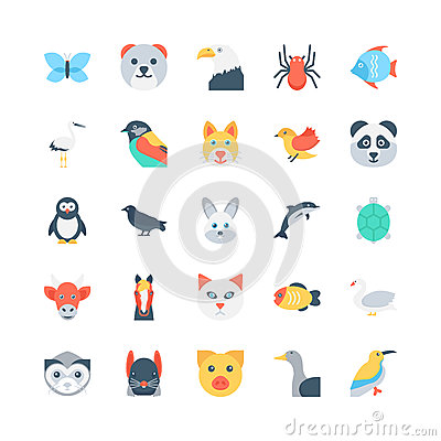 Free Animals And Birds Colored Vector Icons 1 Stock Photo - 84266580