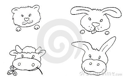 The animals b/w