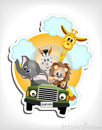 Animals in car