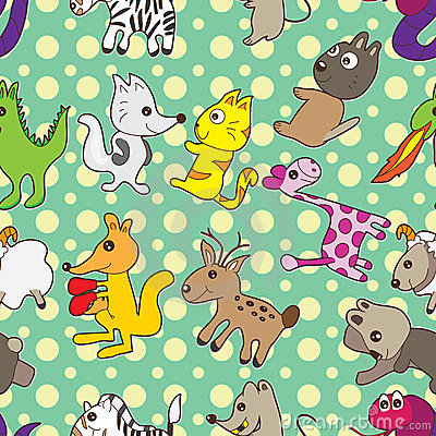 Animals Circle Seamless Pattern_eps
