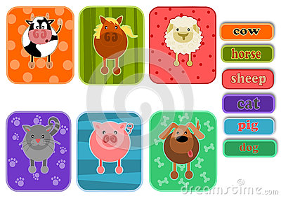 Animals from farm