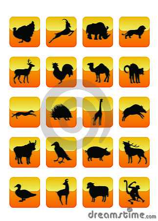 Free Animals Icons 01 Stock Images - 5853424