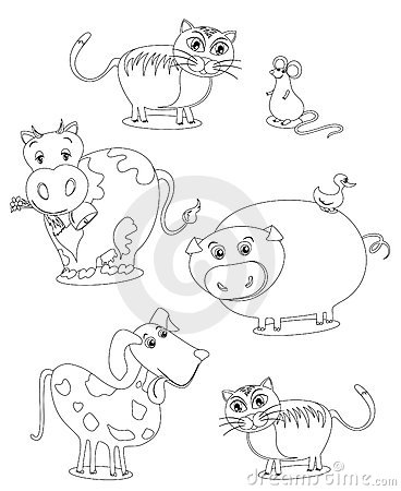 Animals (image In Black And White To Color Royalty Free ...