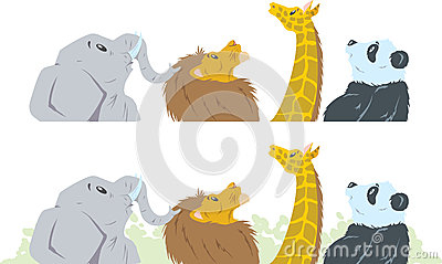 Animals looking up