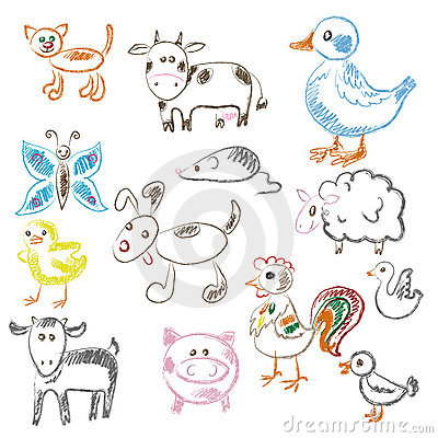 Animals.More child draw illustrations in my portfo