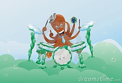 Animals music poulpe character animal underwater