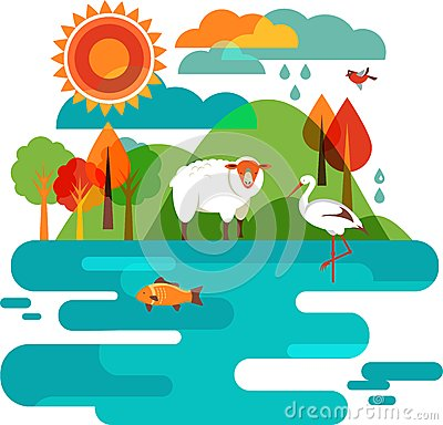 Animals and Narure Background