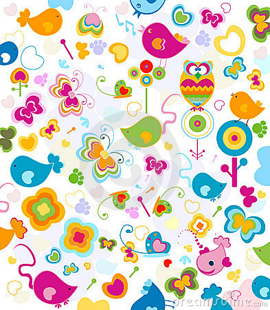 Free Animals Pattern Royalty Free Stock Photo - 8328075