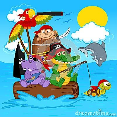 Free Animals Pirates Stock Photo - 44372550
