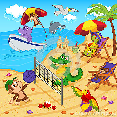 Free Animals Resting On Beach Royalty Free Stock Photography - 52713667