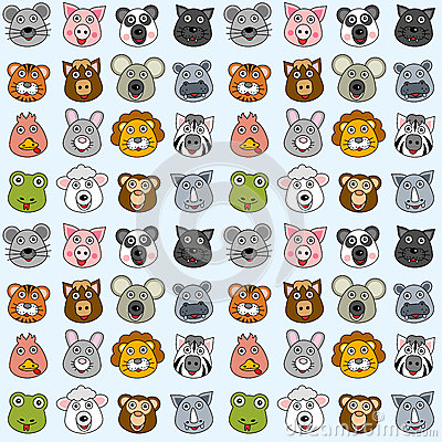 Free Animals Seamless Pattern [2] Stock Images - 25642884