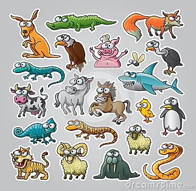 Free Animals Set Stock Photography - 26633212
