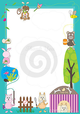 Free Animals Story Frame_eps Stock Photo - 24102800