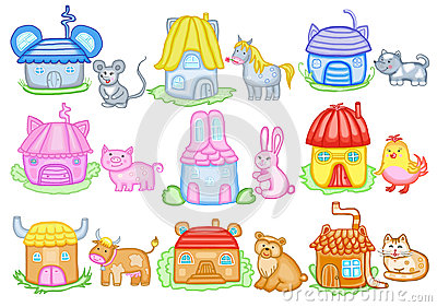 Animals and their houses