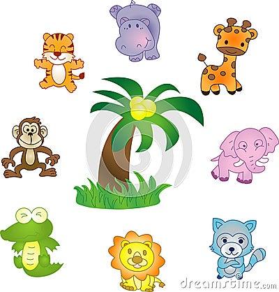 Free Animals Vector Icons Set Stock Photos - 7009573