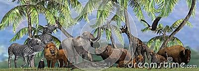 Animals of the Wild - isolated on white background Stock Photo